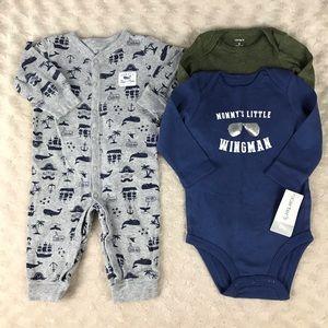 Carter's Baby Boy Bundle Long Sleeve Bodysuits